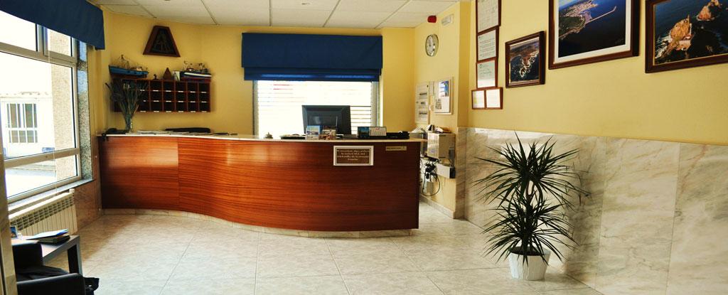 Recepción Hotel Residencia O Parranda en Camariñas-Costa da Morte