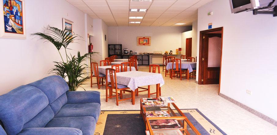 Sal�n Hotel Residencia O Parranda en Camari�as-Costa da Morte